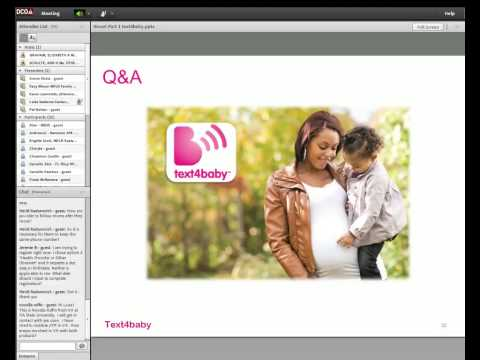 Novel Communication Tools: Using Text4Baby & Just In Time Parenting to Meet the Needs of Parents