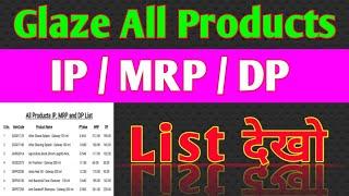 Glaze All Products / IP/MRP/DP LIST