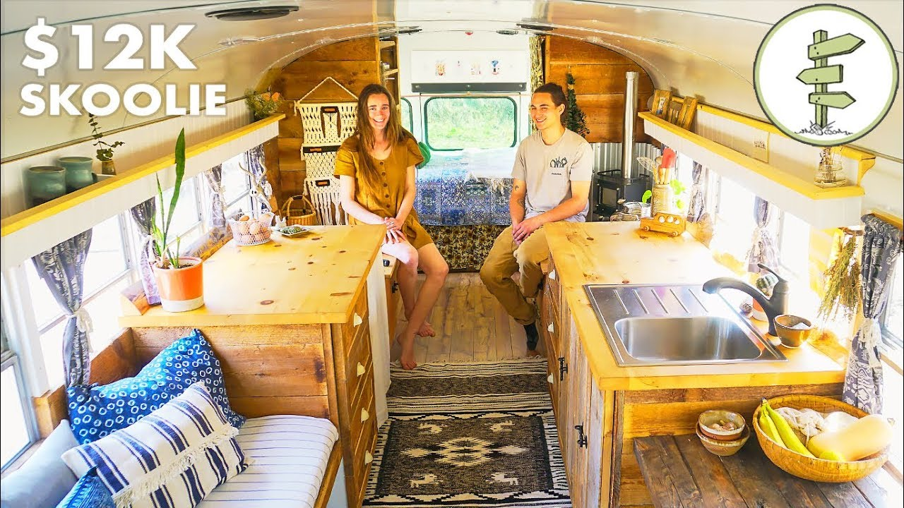 Most Amazing School Bus Tiny House Conversion On A Budget