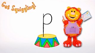 Get Squiggling Letters | Letter P