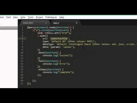 Ajax Navigation Menu (code Source)