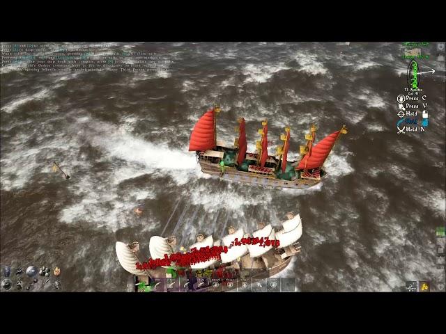 ATLAS PVP - Galleon vs Galleon & 4 brigs MASSIVE NAVAL PVP OwO vs BLDX/OOF