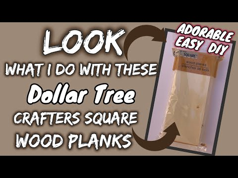 LOOK What I Do With These Dollar Tree WOOD PLANKS By CRAFTERS SQUARE | ADORABLE EASY DIY