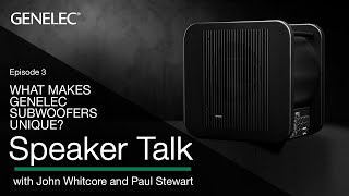 Speaker Talk | What makes Genelec subwoofers unique? | Episode 3