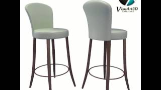 Luma Bar Stool Chair 54 3d Model From Cgtrader.com