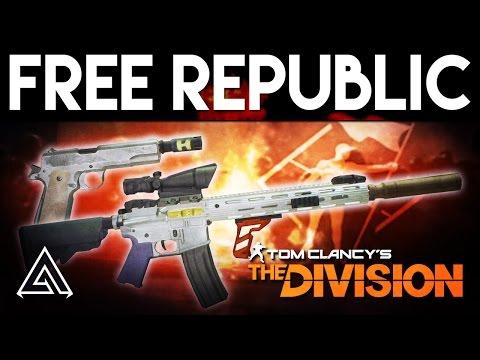 The Division  Liberator & Centurion Free Republic Exotic Weapon Pair