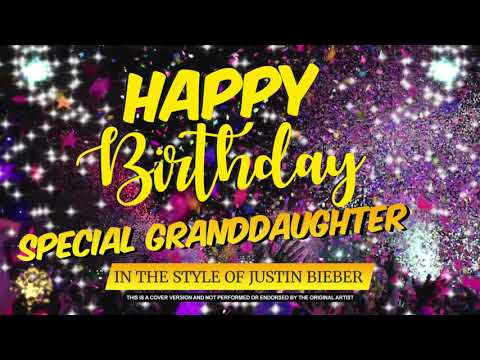 Happy Birthday Special Granddaughter In the Style of Justin Bieber | Celebrity | Personalised