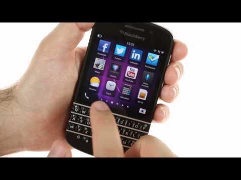 BlackBerry Q10 user interface