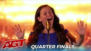 Roberta Battaglia: Sofia's Golden Buzzer Renders Kelly Clarkson SPEECHLESS At The Quarterfinals