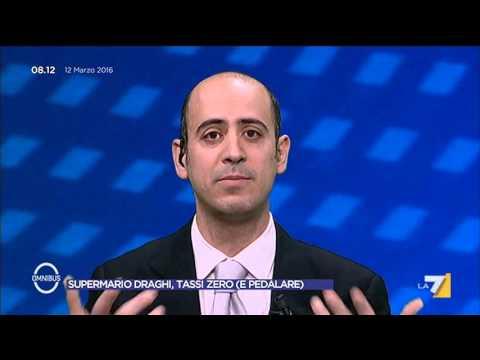 Omnibus - SuperMario Draghi, tassi zero (e pedalare) (Puntata 12/03/2016)
