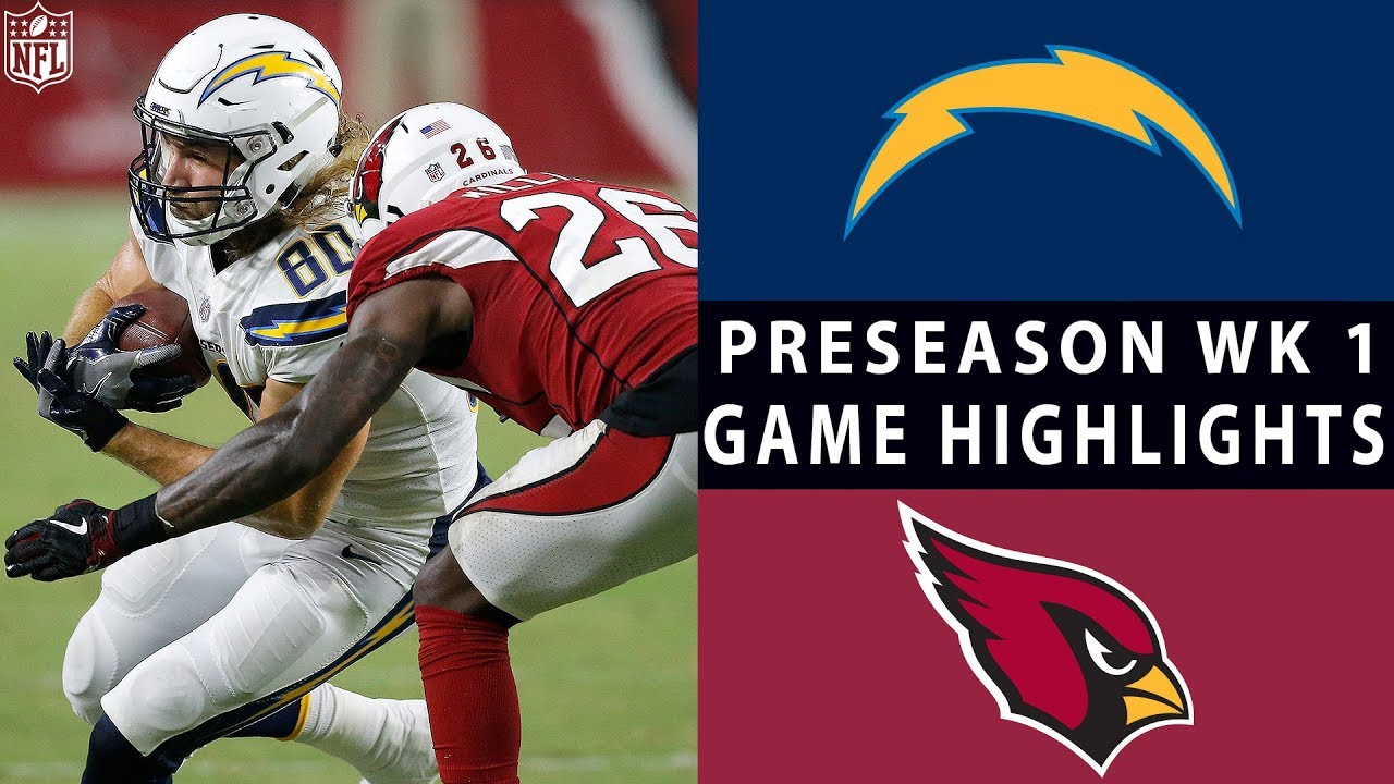 Chargers Vs Cardinals Highlights Nfl 2018 Preseason Week 1 Youtube