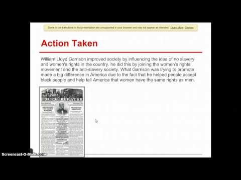 William Lloyd Garrison TL