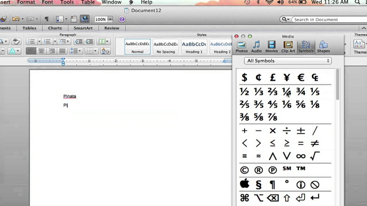 How To Put A Character Over A Letter In Microsoft Word Microsoft