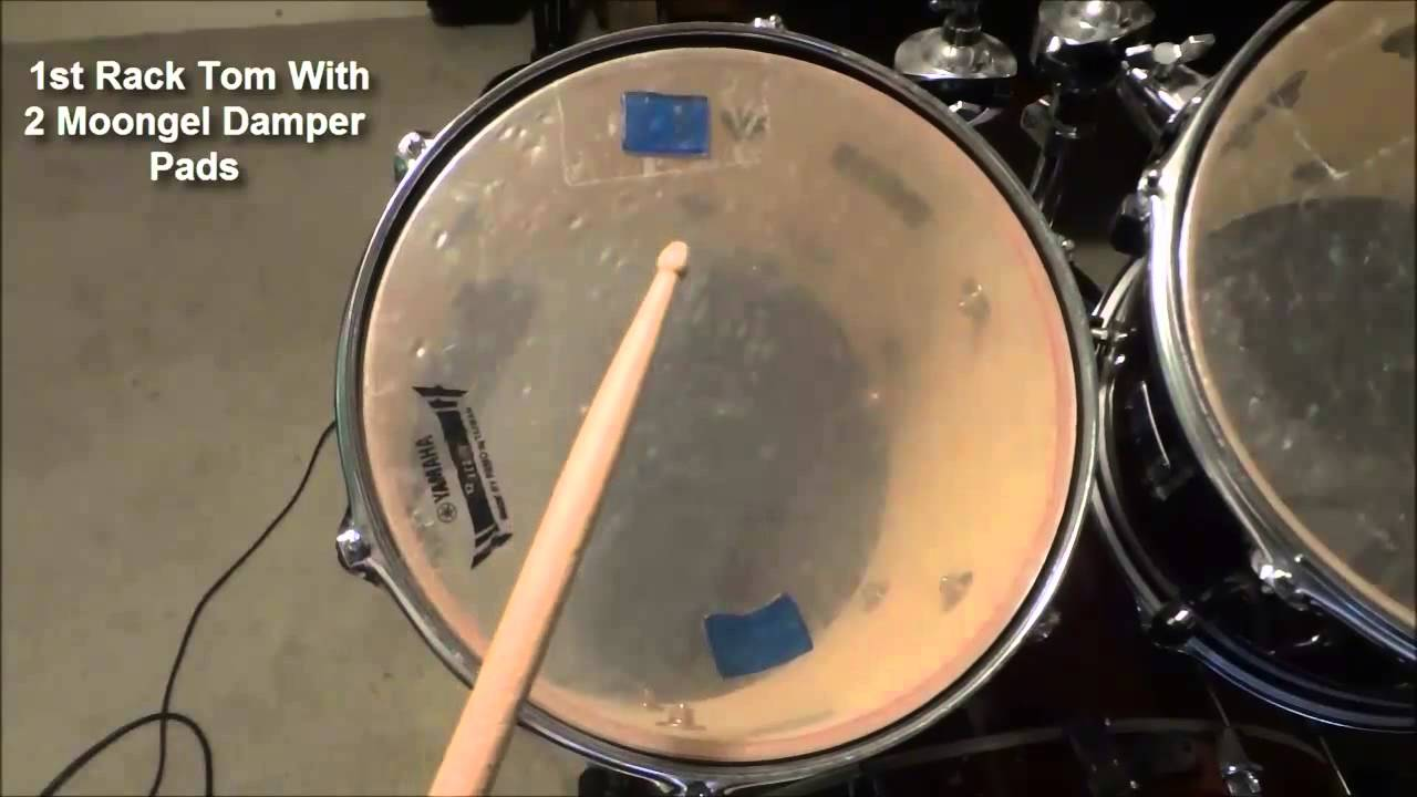 Moongel Damper Pads Drum Sounds Before And After Adding