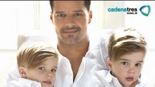 Ricky Martín se da tiempo para estar con sus gemelos / Ricky Martin and his twins