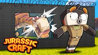 Minecraft Jurassic Craft - SECURE DINOSAUR CAGE!