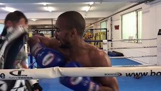 Thaiboxen Training, paos and bag