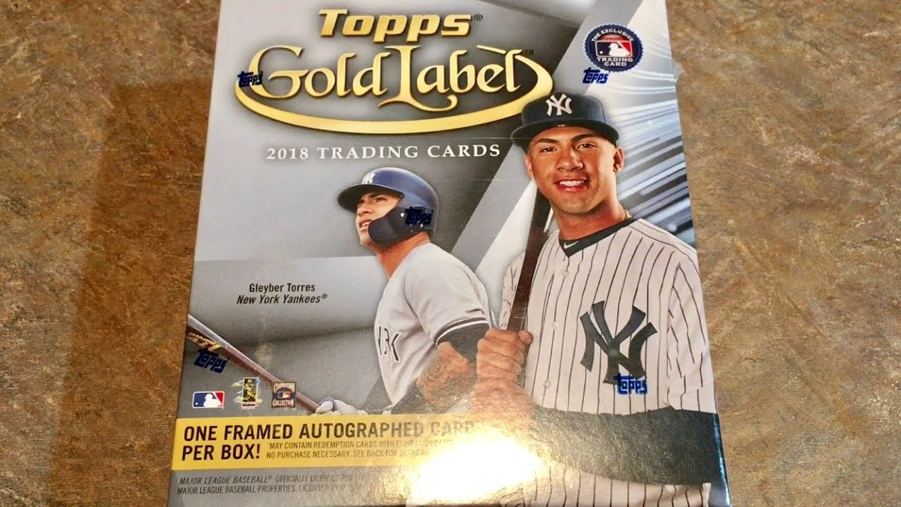 New Release 2018 Topps Gold Label Guaranteed Framed Autograph Card Per Box