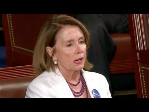 Nancy Pelosi Reaction to Trump's First Presidential Address to Congress