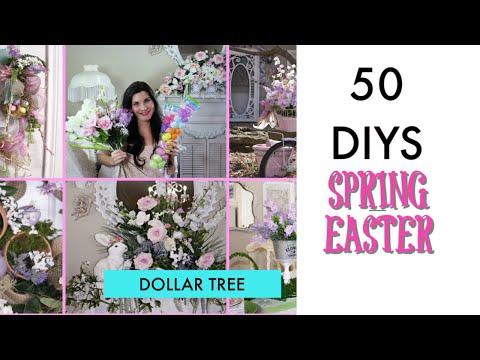 50 DIY DOLLAR TREE DECOR CRAFTS  SPRING/ EASTER / BRIDAL / Olivia's Romantic Home DIY 2019