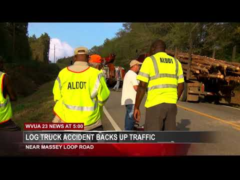 TWO LOG TRUCK ACCIDENTS ON HWY 69S CAUSE MAJOR TRAFFIC DELAYS