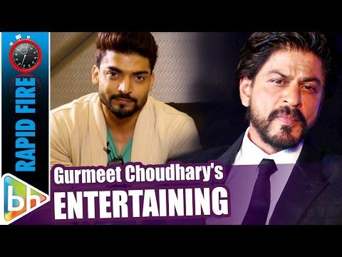 Gurmeet Choudhary's ENTERTAINING Rapid Fire On Shah Rukh Khan   Deepika Padukone   Salman Khan