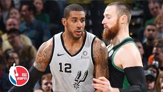 LaMarcus Aldridge scores 48 points in double-double effort | Spurs vs. Celtics | NBA Highlights thumbnail
