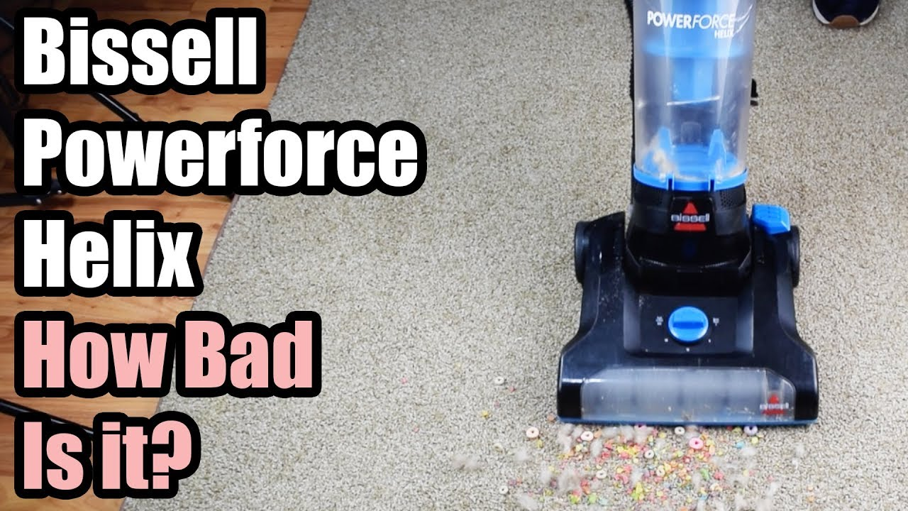 Bissell Powerforce Helix Review How Bad Is It Bagless Vacuum Cleaner Youtube