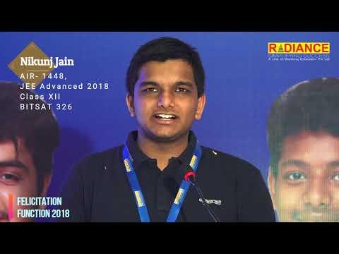 Nikunj Jain, AIR- 1448, JEE Advanced, 2018