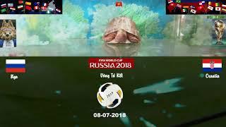Rùa Vàng dự đoán World Cup 2018 vòng tứ kết Nga vs Croatia