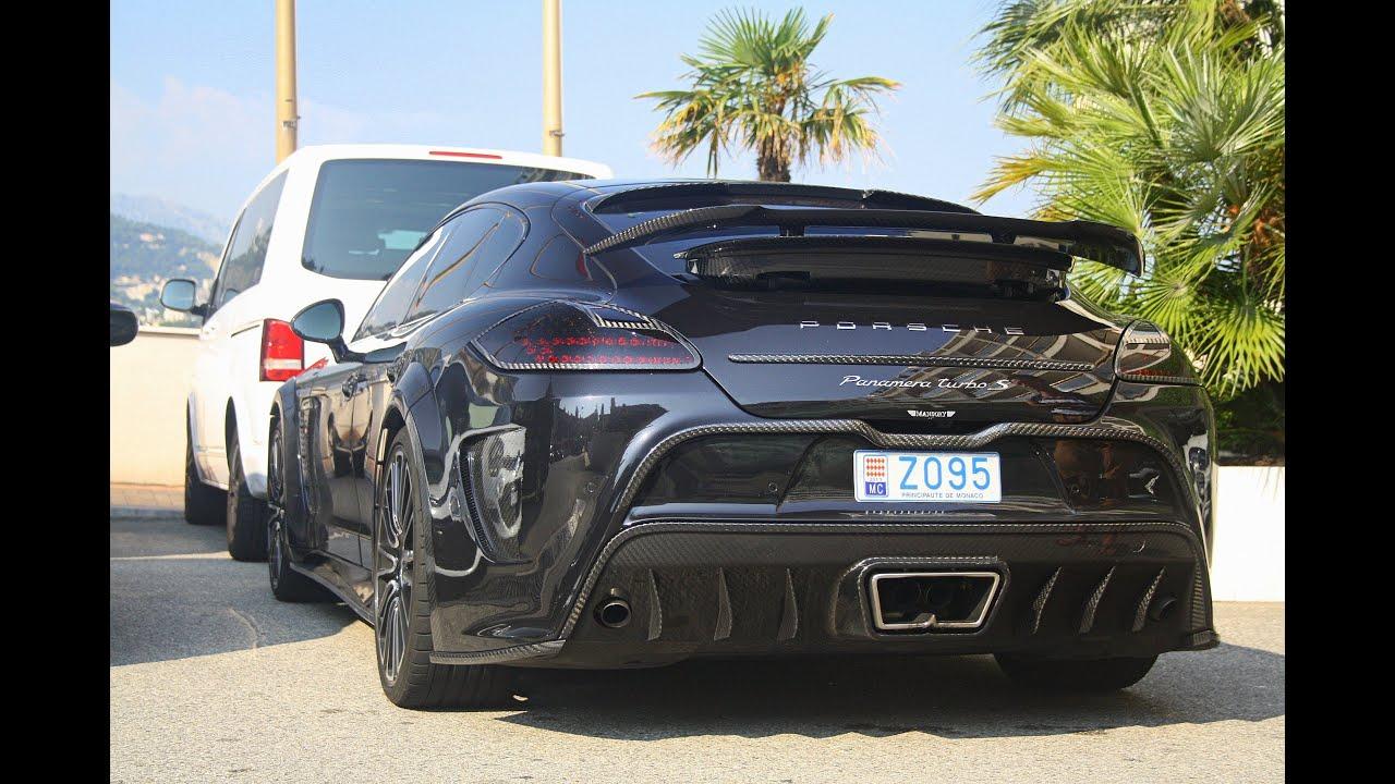 690HP Porsche MANSORY Panamera C One in Monaco! Start up, Sound and ...