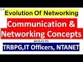 Communication & Networking Concepts, Lec-01, Evolution of Networking TRBPG, IT Officers, NTANET
