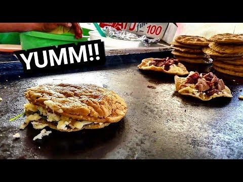 INCREDIBLE Mexican Street Food: DELICIOUS Quesadillas And Gorditas