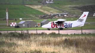 Let L-410 Turbolet Takeoff from Kirkwall Airport EGPA Runway 27 Orkney