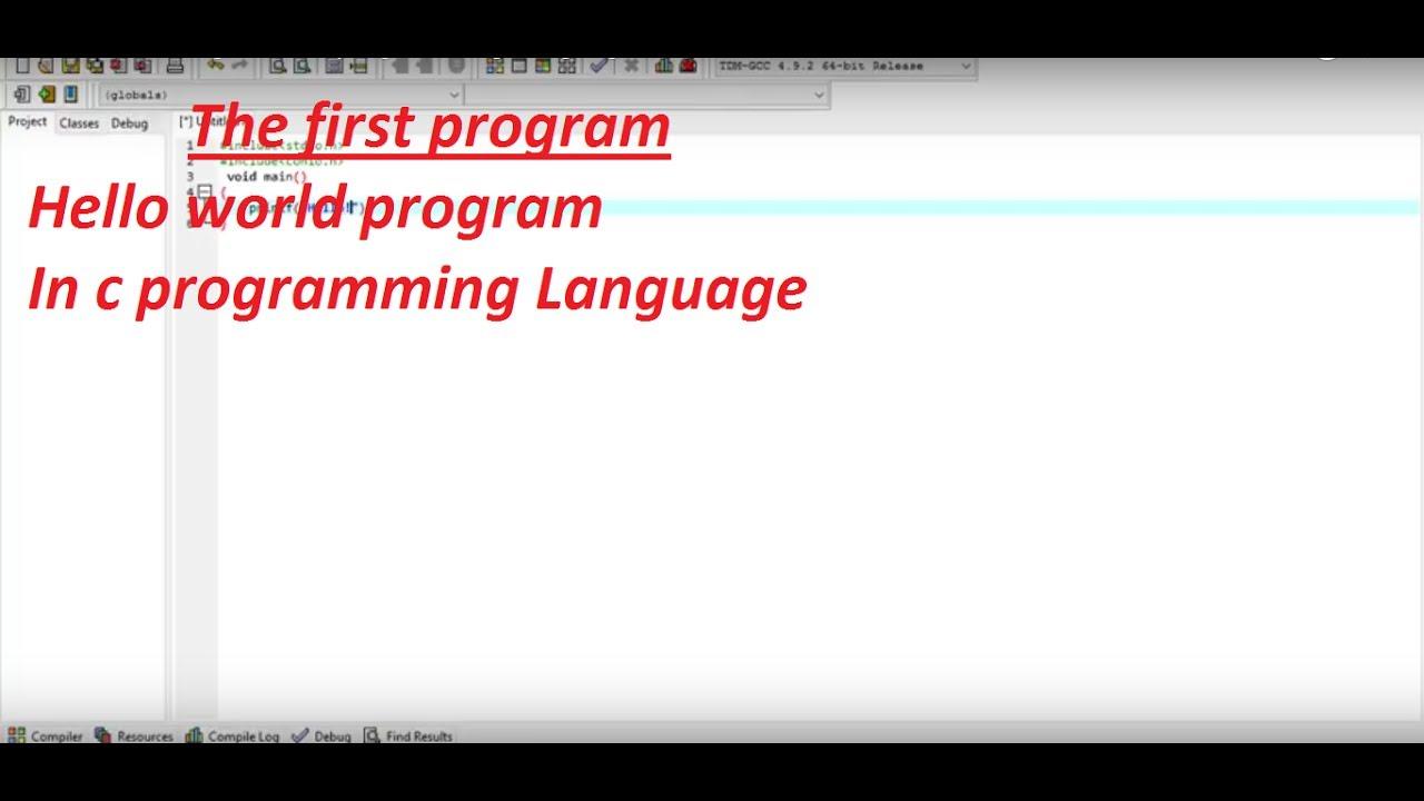 hello world program c programming language   youtube