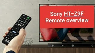 Sony HT-Z9F Sound Bar remote function Review