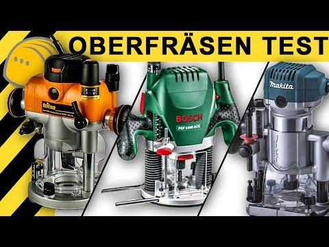 OBERFRÄSEN TEST | Bosch vs Makita vs Triton Oberfräse 2400W | Vergleich, Review, Meinungen | [4K]