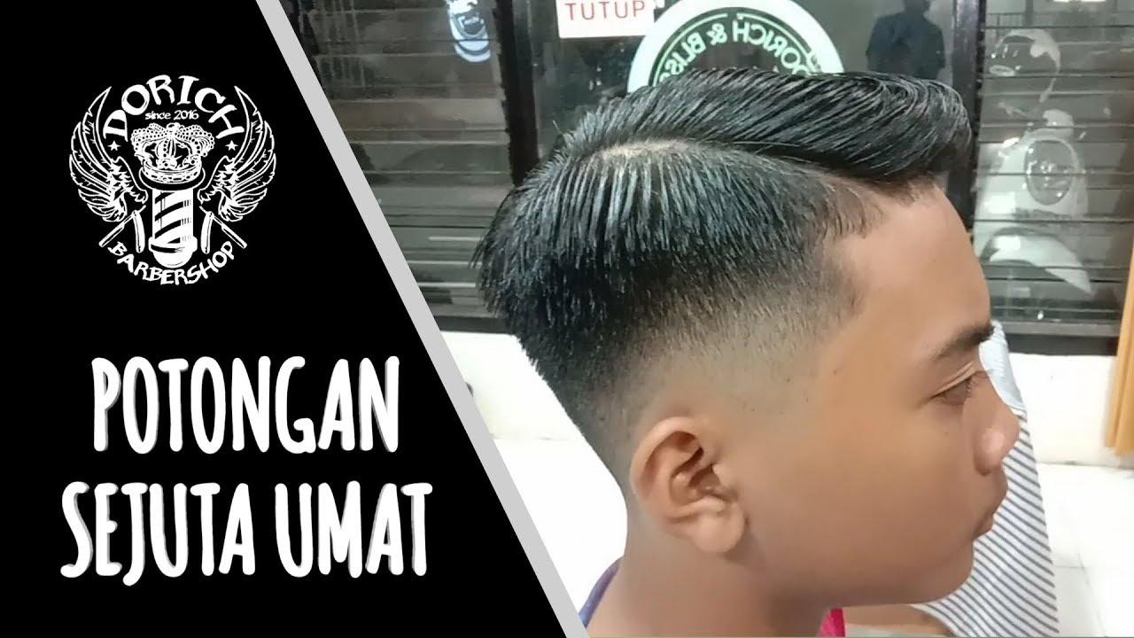 Potongan Rambut Fade Paling Laris Di Indonesia 2020 Gaya Rambut Keren Youtube