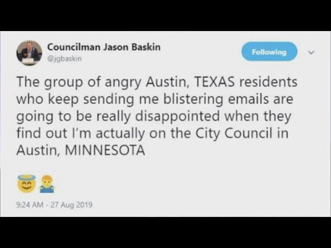 Austin, MN, Councilmember Receiving Emails From Confused Austin, TX, Constituents