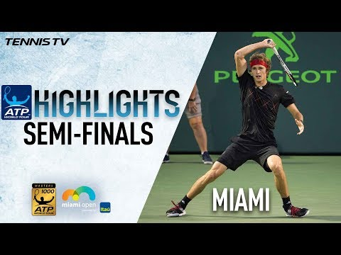 Highlights: Zverev, Isner Advance To 2018 Miami Final