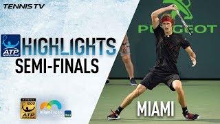 Highlights: Zverev, Isner Advance To 2018 Miami Final