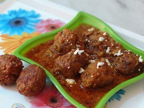 Lauki Kofta Curry Recipe - Healthy Bottle Gourd Recipe - Lauki Indian Recipe