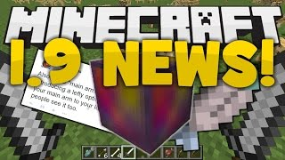 Minecraft 1.9 News! - LEFT HANDS CONFIRMED, SHIELD BLOCKING, OFF-HAND SLOT, DUAL WIELD ITEMS!