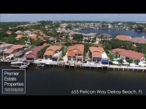 Delray Beach Real Estate - Waterfront Home Delray Beach - 655 Pelican Way, Delray Beach, Florida