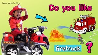Do You Like Firetruck?? Learn Simple English Songs!!