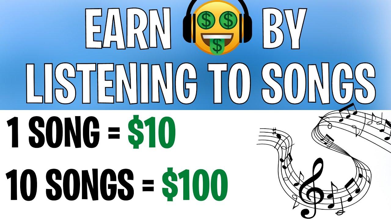 Make 10 From Listening to 1 SONG LEGIT  Make Money Online 2021