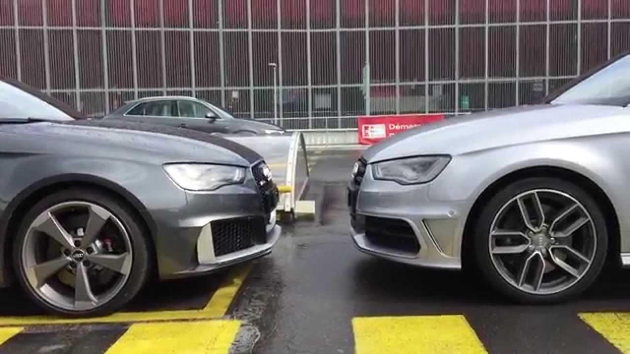 2015 Audi Rs3 Vs Audi S3 Visual Differencies Youtube