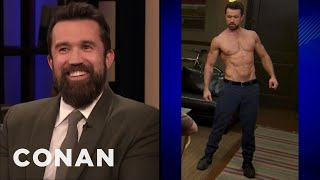 "Rob McElhenney Wanted To Look Like Brad Pitt In ""Fight Club"" - CONAN on TBS"