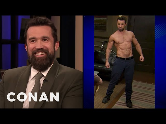 """Rob McElhenney Wanted To Look Like Brad Pitt In """"Fight Club"""" - CONAN on TBS"""