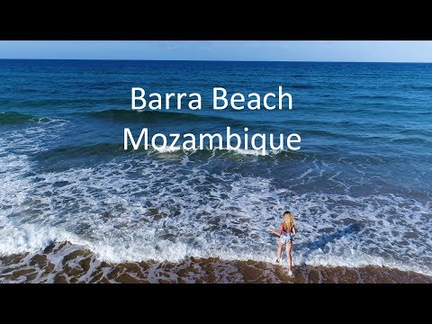 Travel Documentary. Barra Beach by Drone -  Mozambique